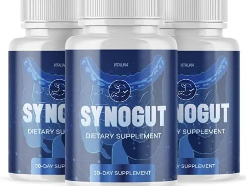 (3 Pack) Official Synogut Digestive Health, for Men and Women, 3 Month Supply