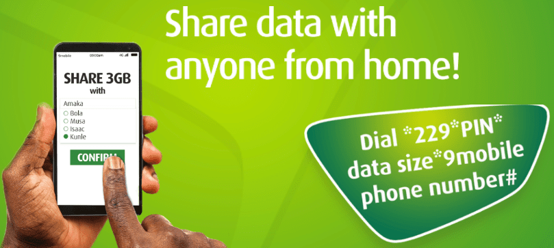 9mobile share data