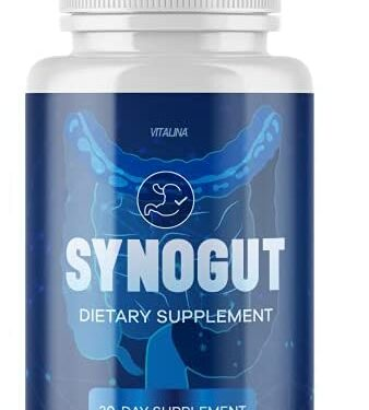 (Official) Synogut Digestive Health, for Men and Women, 1 Month Supply
