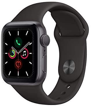 (Refurbished) Apple Watch Series 5 (GPS, 40MM) - Space Gray Aluminum Case with Black Sport Band