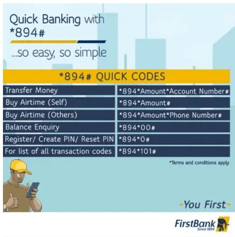 firstbank transaction code